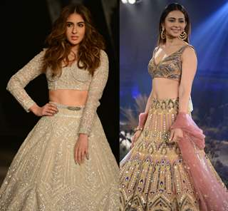 Sara Ali Khan and Rakul Preet Singh walk the ramp for India Couture Week 2019