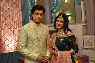 Kartik and Vedika Mehendi Ceremony Pictures from Yeh Rishta Kya Kehlata Hai