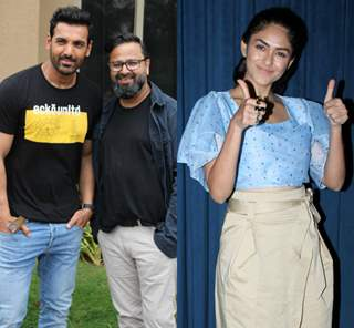 John Abraham and director Nikkhil Advani at the promotions of Batla House!