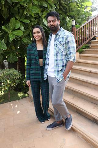 Prabhas and Shraddha Kapoor at the promotions of Saaho!