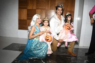 Celebrities attend Bella and Vienna's Halloween themed birthday bash!