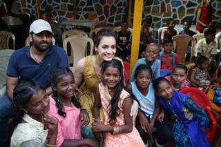 Dia Mirza papped at the launch of Exceed Cares