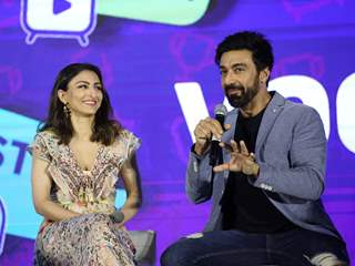 Soha Ali Khan & Ashish Chaudhary at VOOT Kids Launch!
