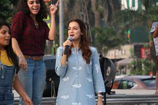 Dia Mirza leads a Climate Change Protest!