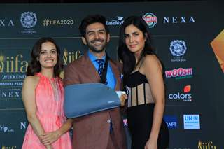 Kartik, Katrina and Dia at IIFA 2020 Press conference!