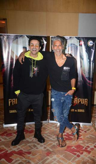 Milind Soman and Sahil Salathia snapped at the promotions of Paurashpur