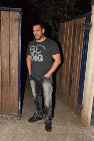 Salman Khan snapped outside a recording studio!