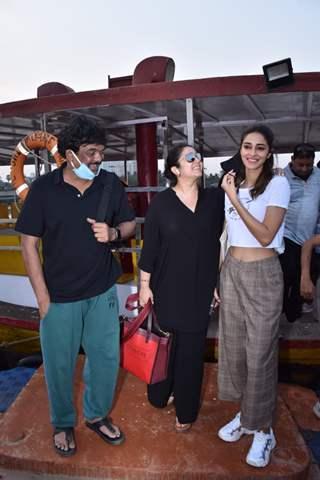 Ananya Panday, Charmi Kaur, Puri Jagannadh spotted at Versova Jetty