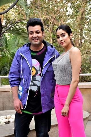 Janhvi Kapoor and Varun Sharma at the promotions of Roohi
