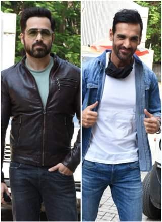 John Abrahm, Emraan Hashmi and other celebs arrive for Mumbai Saga Trailer launch!