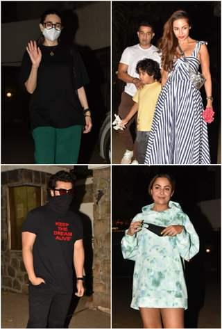 Arjun, Malaika, Karisma, Amrita visit Kareena Kapoor Khan's residence!