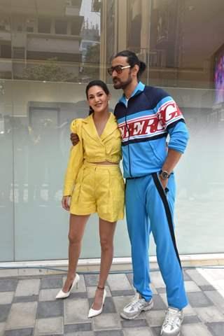 Kunal Kapoor and Amyra Dastur snapped at Koi Jaane Na promotions