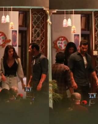 John Abraham and Disha Patani spotted at the sets of Ek Villain 2 in Bandra