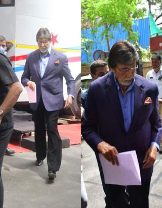 Amitabh Bachchan spotted at a shoot in Bandra