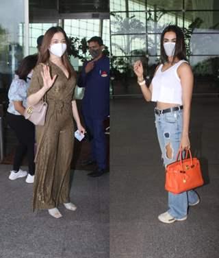 Tamanna Bhatia and Sonal Chauhan snapped at airport