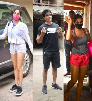 Sara, Janhvi, Sonu snapped snapped outside their gyms