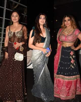 Television celebs at Rahul Vaidya and Disha Parmar Sangeet Ceremony