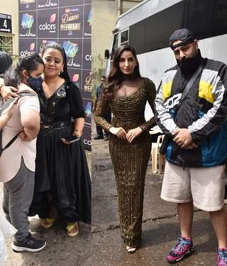 Bharti Singh, Nora Fatehi and Badshah at the sets of Dance Deewane