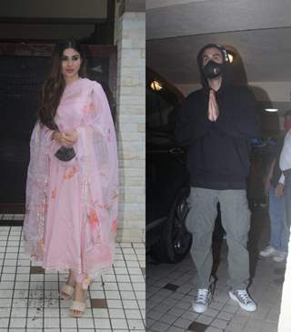 Ranbir Kapoor and Mouni Roy snapped at a dubbing studio in Khar