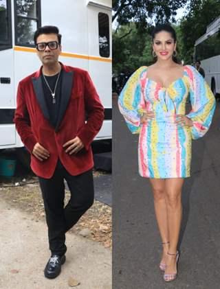 Sunny Leone and Karan Johar snapped at the sets of Big Boss OTT!