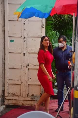 Kareena Kapoor Khan spotted at a shoot in Mumbai