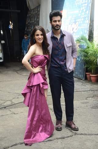 Radhika Madan and Sunny Kaushal snapped during Shiddat promotions