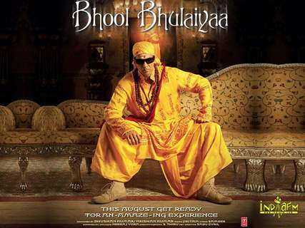Poster of Bhool Bhulaiyaa with Akshay kumar