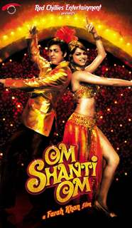 Poster of Om Shanti Om with Shahrukh and Deepika