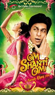 Om Shanti Om poster with Shahrukh and Deepika