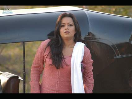 Reema Sen looking feared