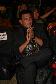 Mithun Chakraborty at SA RE GA MA PA finals at Andheri Sports Complex. .
