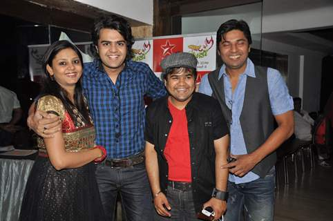 Manish Paul, wife Sanyukta, Prasad Barve & Dharampal Thakur at the launch party of Pyaar Mein Twist