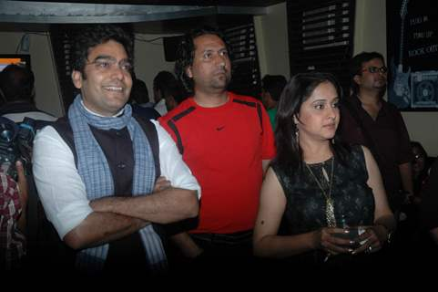 Ashutosh Rana and Mrinal Kulkarni at the screening of Kaali Ek Agni Pariksha serial at Malad. .