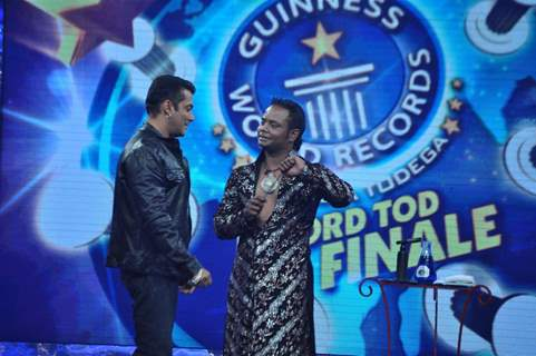 Salman Khan on the sets of Guinness World Records at RK Studios