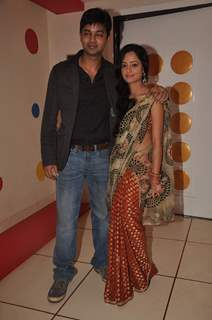Anuj and Jayashree at 'Beend Banoongaa Ghodi Chadhunga' tvshow celebrate the completion of 100 episo