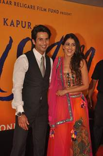 Shahid with Genelia D'Souza at Premiere of film 'Mausam' at Imax, Wadala in Mumbai