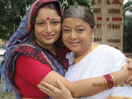 Samta Sagar and Rita Bhaduri on last day shoot of Chhoti Bahu