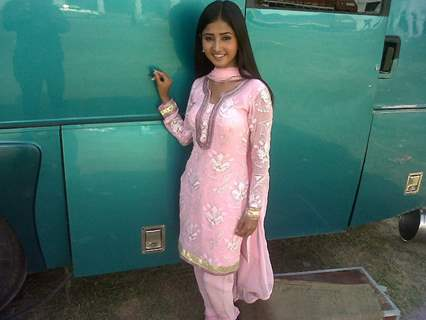 Sana Amin on sets of Mera Naam Karegi Roshan