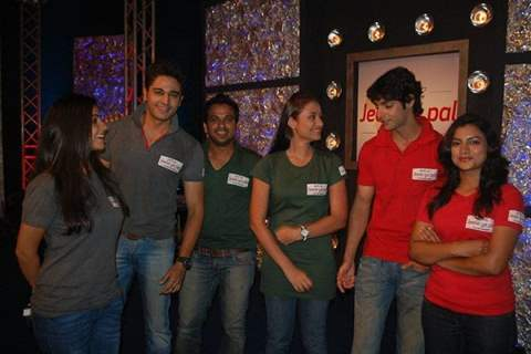 Anupriya, Karan and Gaurav with their respective partners in Ritz Jeele Ye Pal