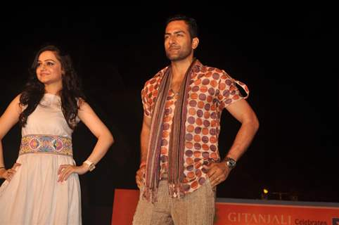 Sudhanshu Pandey and Muskaan Mehani at GR8! Fashion Walk for the Cause Beti by Television Sitarre