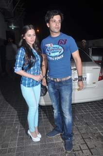 Aamir Ali and Sanjeeda Sheikh at Vicky Donor special screening hosted by John Abraham at PVR