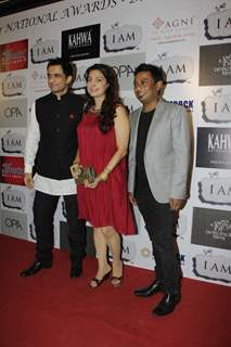 Sanjay Suri, Juhi Chawla and Onir at 'I Am' National Award winning bash