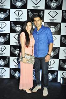 Actor Sameer Dattani with a friend at the launch party of F Lounge