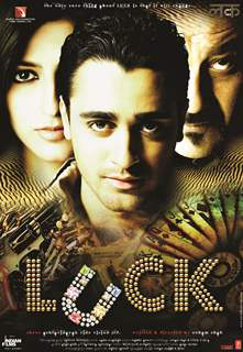 Luck movie poster with Sanjay,Imraan and Shruti