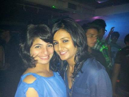 Shakti Mohan and Vinti In Amarjeet Singh's Birthday Party