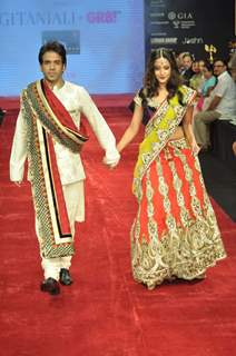Tusshar Kapoor and Raima Sen for  Gitanjali Jewellers at IIJW in Mumbai