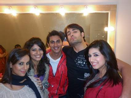 Vivian, Vishal and Vahbhiz with friends