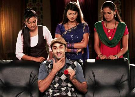 Ranbir Kapoor with Zee TV actresses
