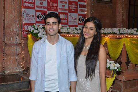 Gautam and Mala at Yeh Rishta 1000 celebration