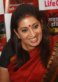 Smriti Irani host of Life OK's docu-drama 'Savdhaan India India Fight Back', press conference